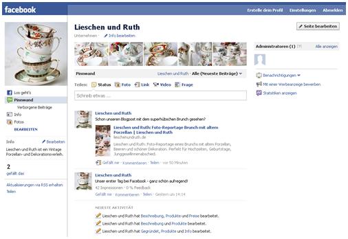 Lieschen und Ruth jetzt auf Facebook
