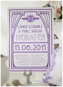 Lieschen und Ruth Impressiona Hochzeits-Einladung Letterpress