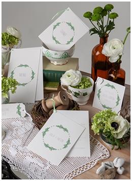 Papeterie mit floralen Ornamenten