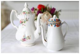 Lieschen und Ruth Vintage Kaffeekannen