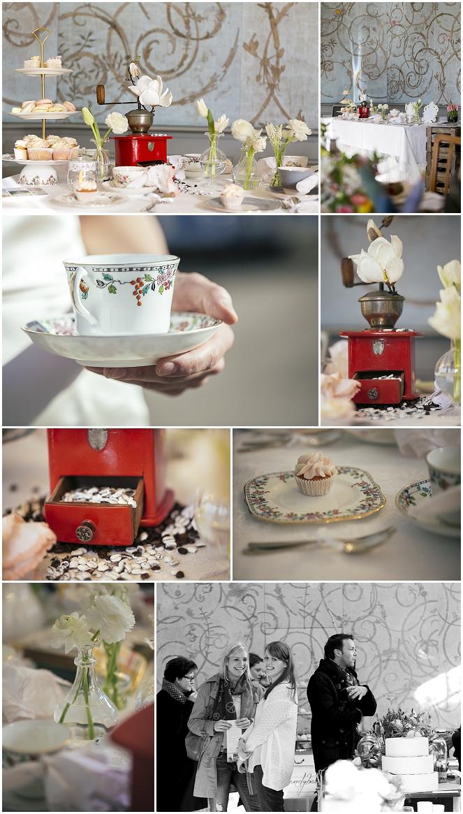 Lieschen und Ruth Vintage-Hochzeitsdeko mit altem Porzellan